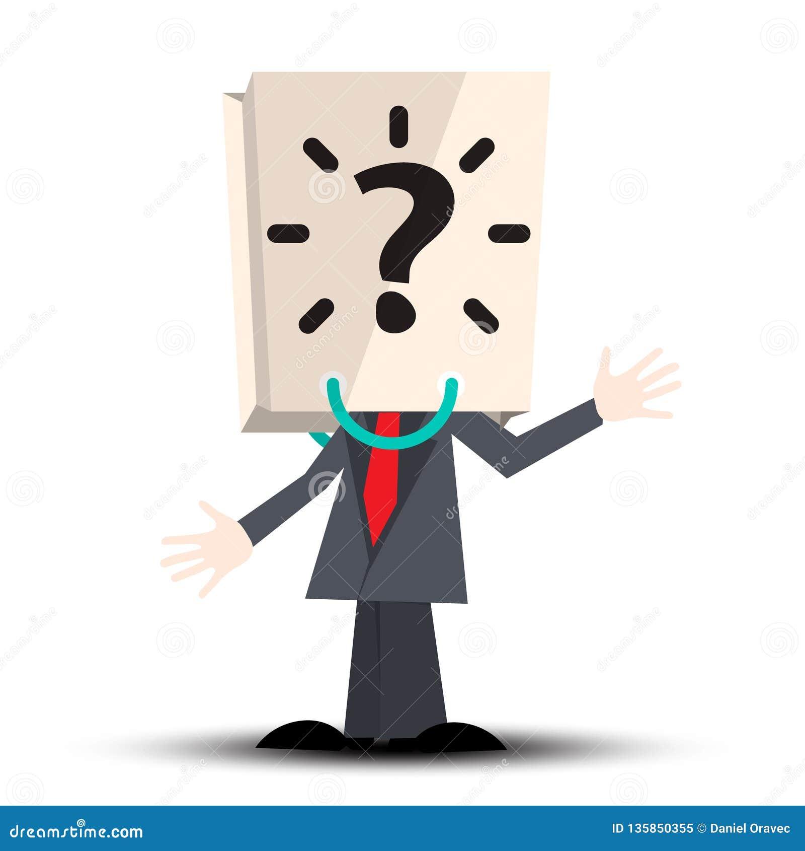 Niewiadomy mężczyzna z Papierową torbą z znak zapytania