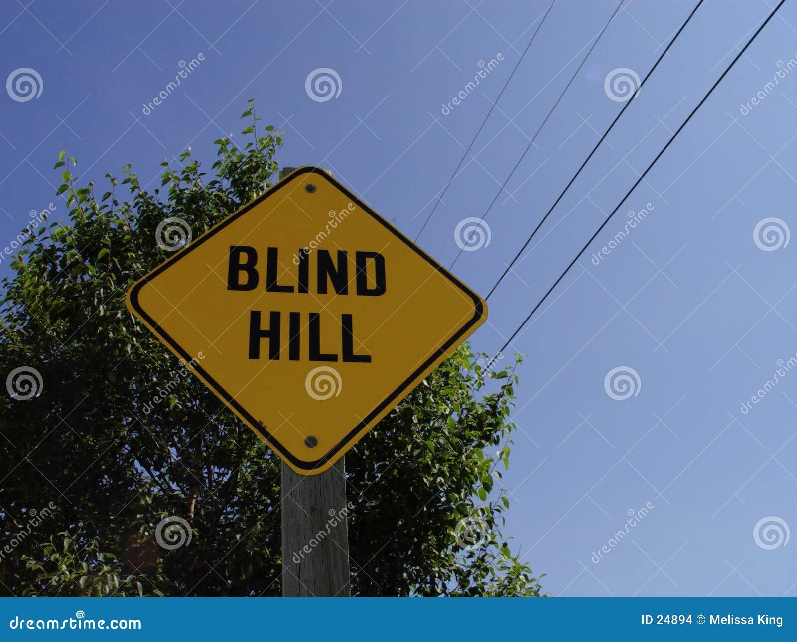 Niewidomy hill znak