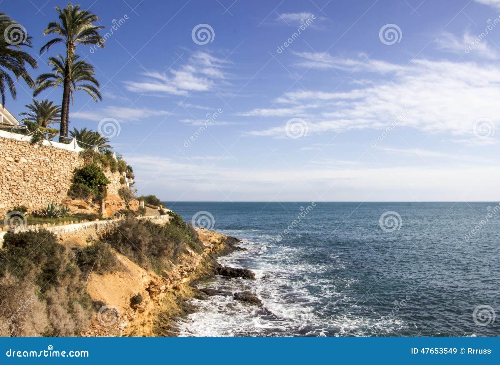 Niewygładzony Costa Blanca wybrzeże