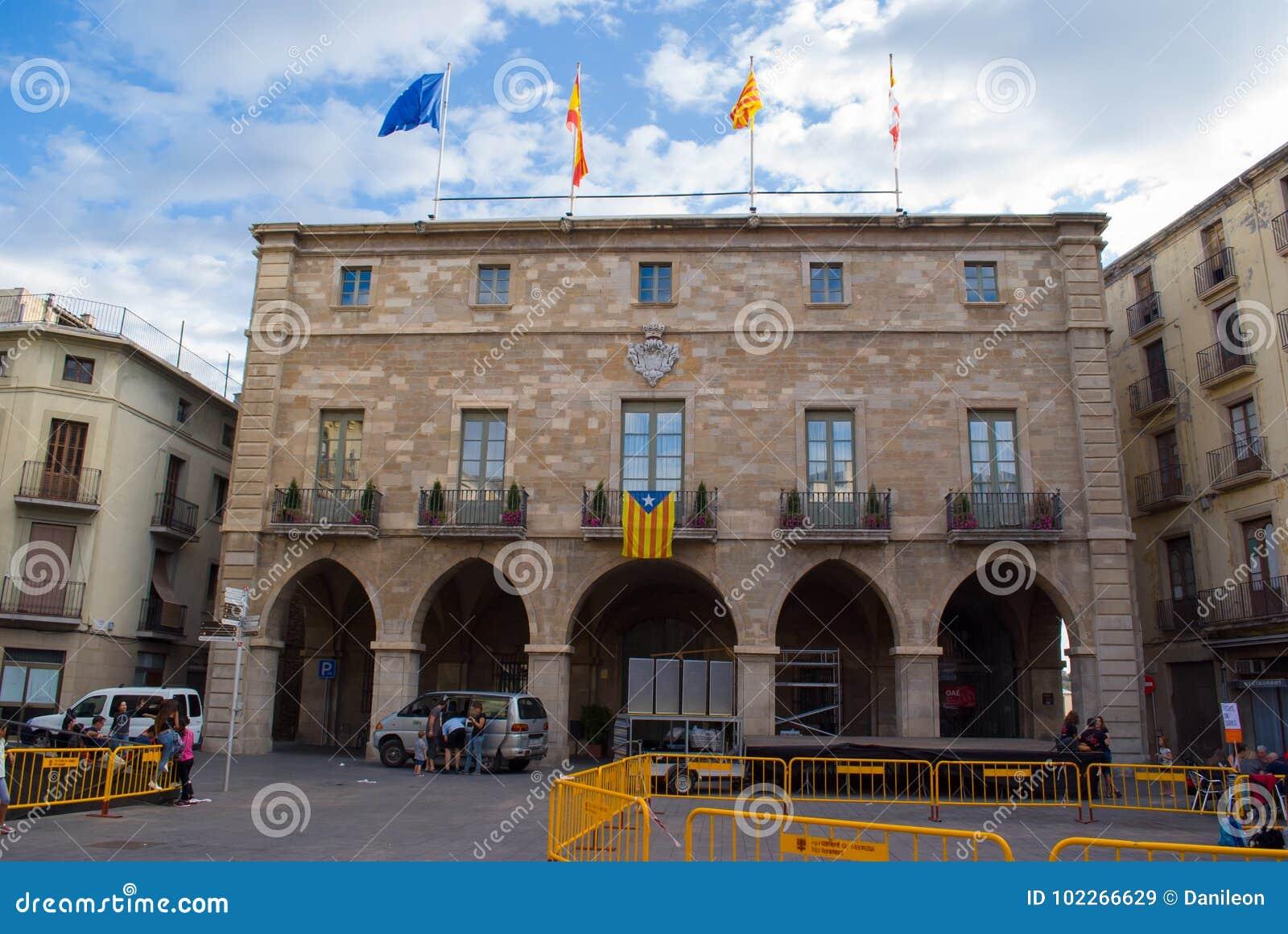 Niezależność flaga w Manresa, Catalonia