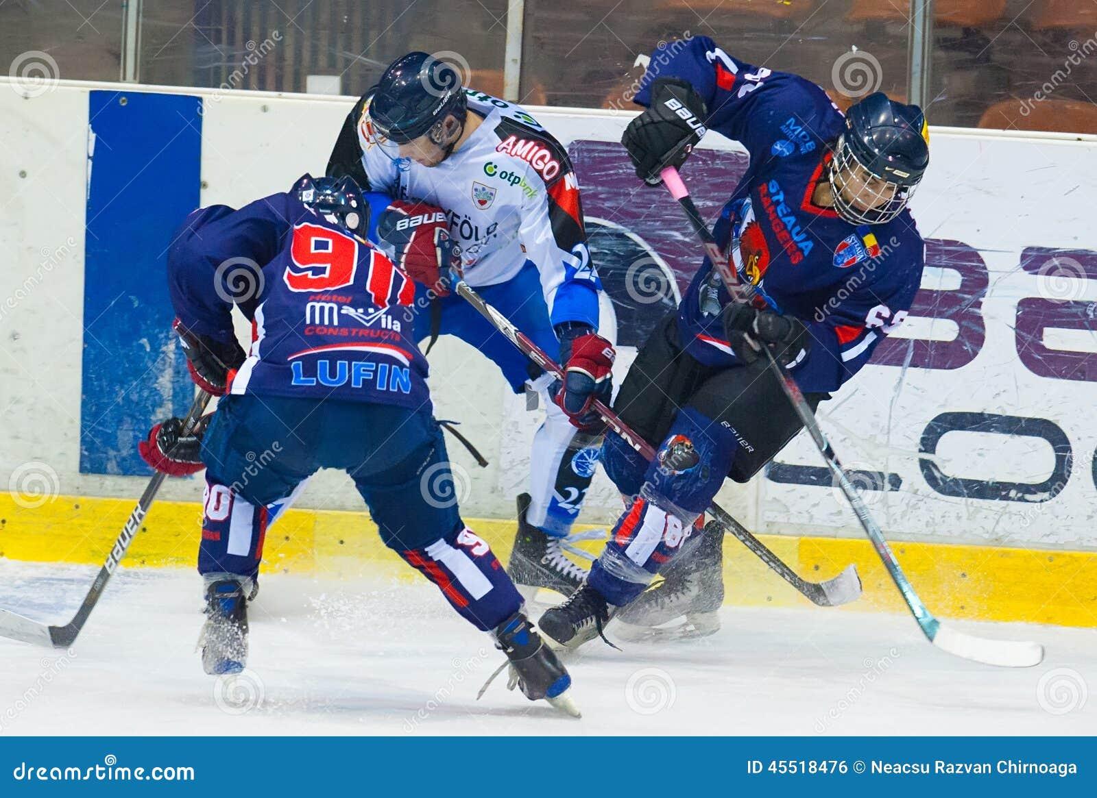 Niezidentyfikowani gracz w hokeja