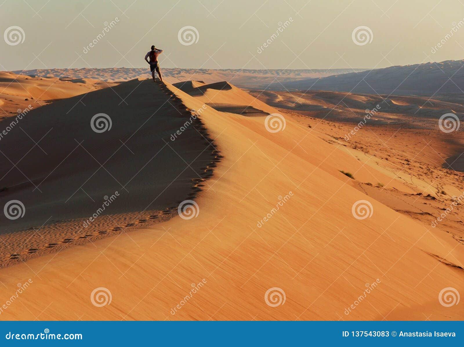 Nieznajomy na piasek diunie