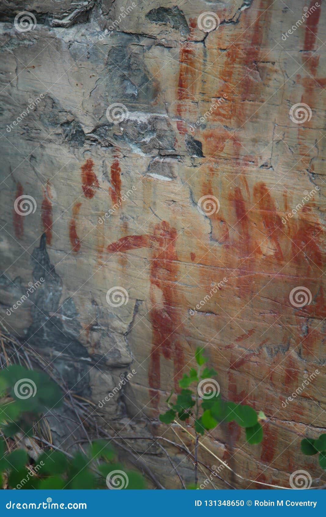 Niezwykła rodowity amerykanin skały sztuka w Północno-zachodni Montana