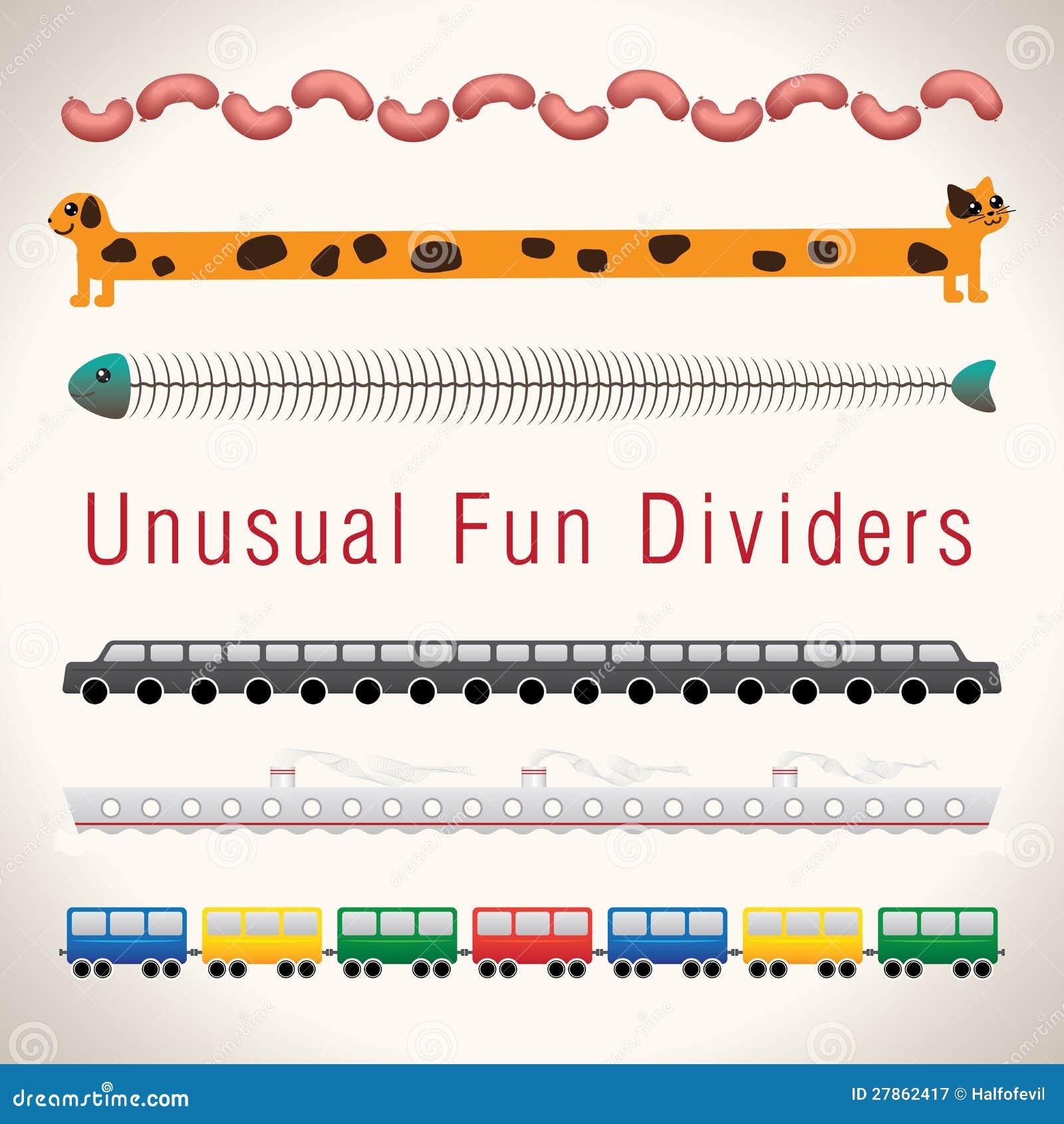 Niezwykłej Zabawy Kolorowi Dividers