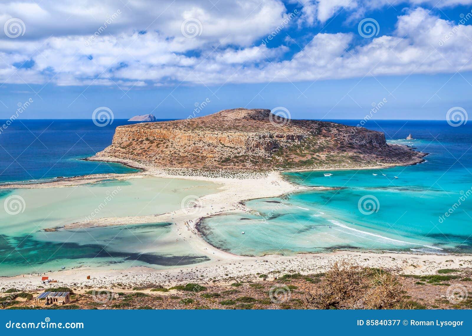 Niezwykły widok Balos zatoka na Crete wyspie, Grecja