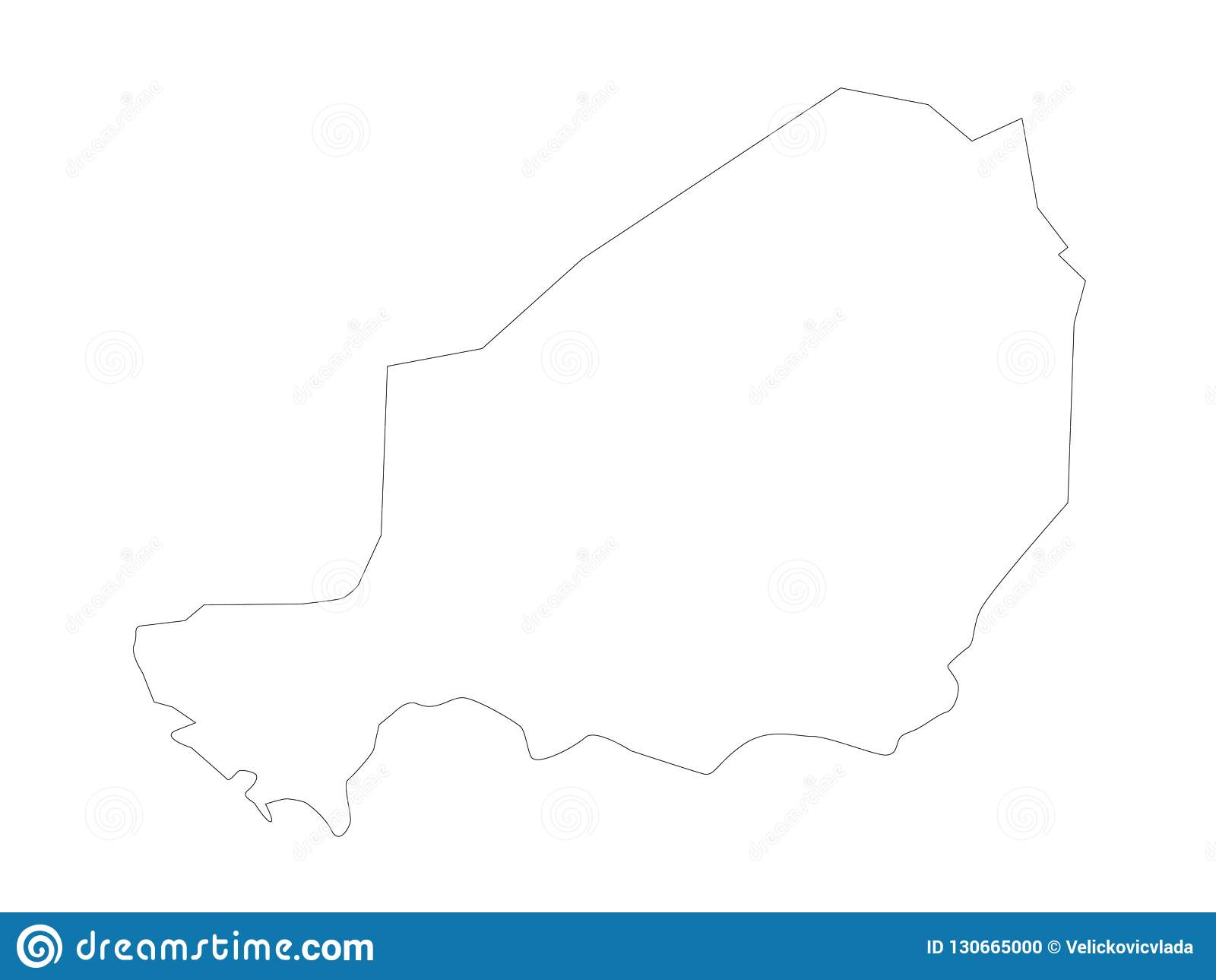 Niger Map Country In West Africa Named After The Niger River Stock