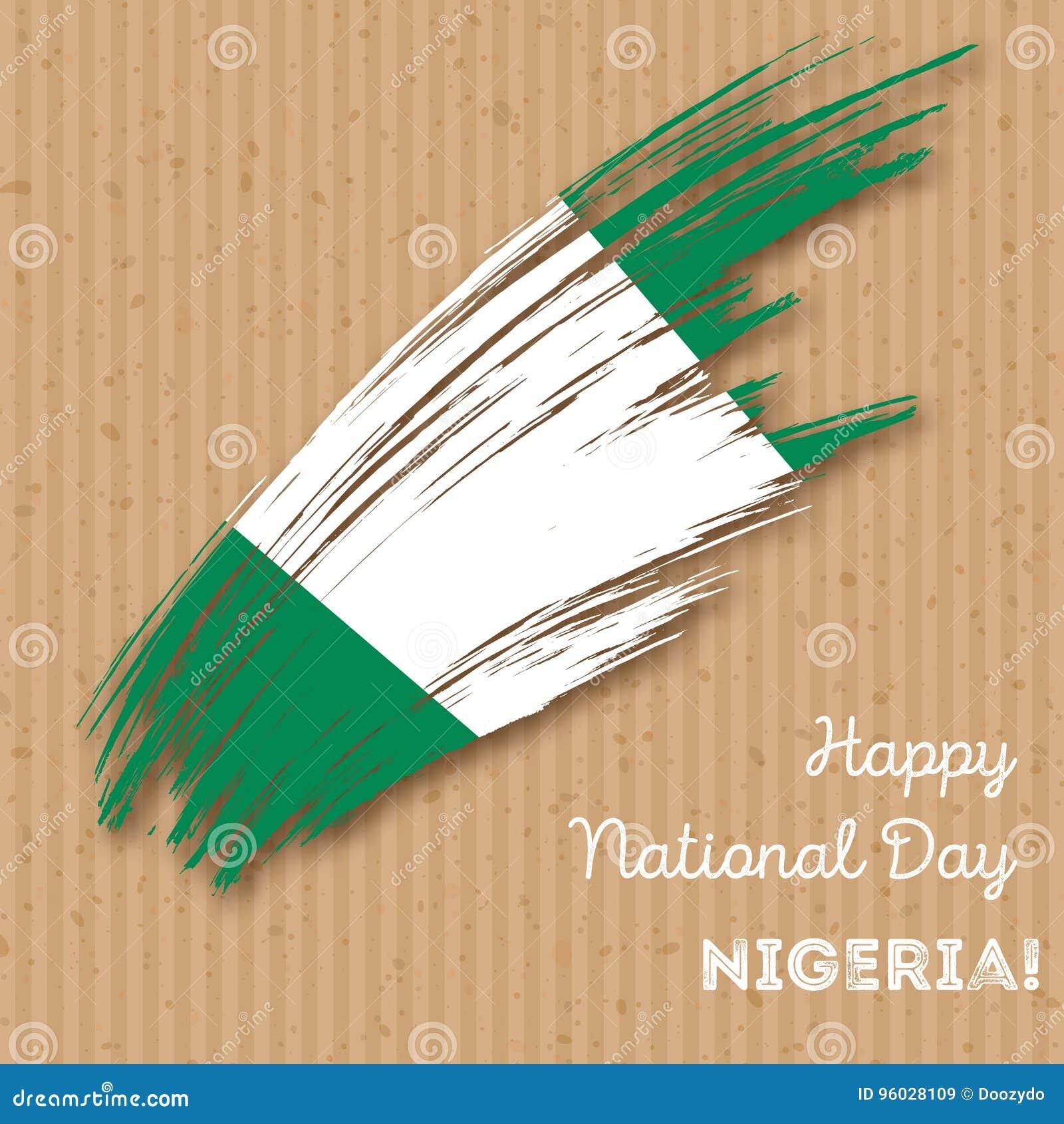 Nigeria dnia niepodległości Patriotyczny projekt