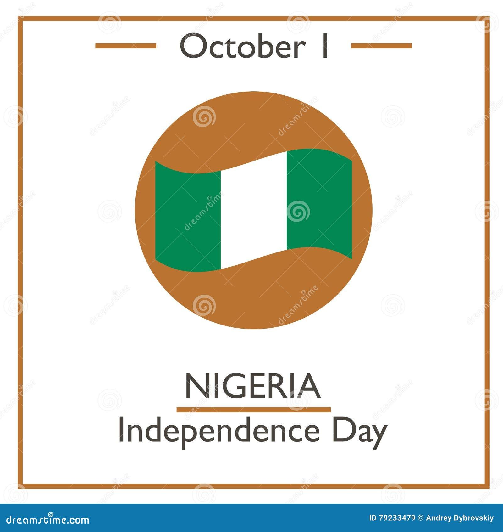 Calendar Design Nigeria : Nigeria independence day october cartoon vector