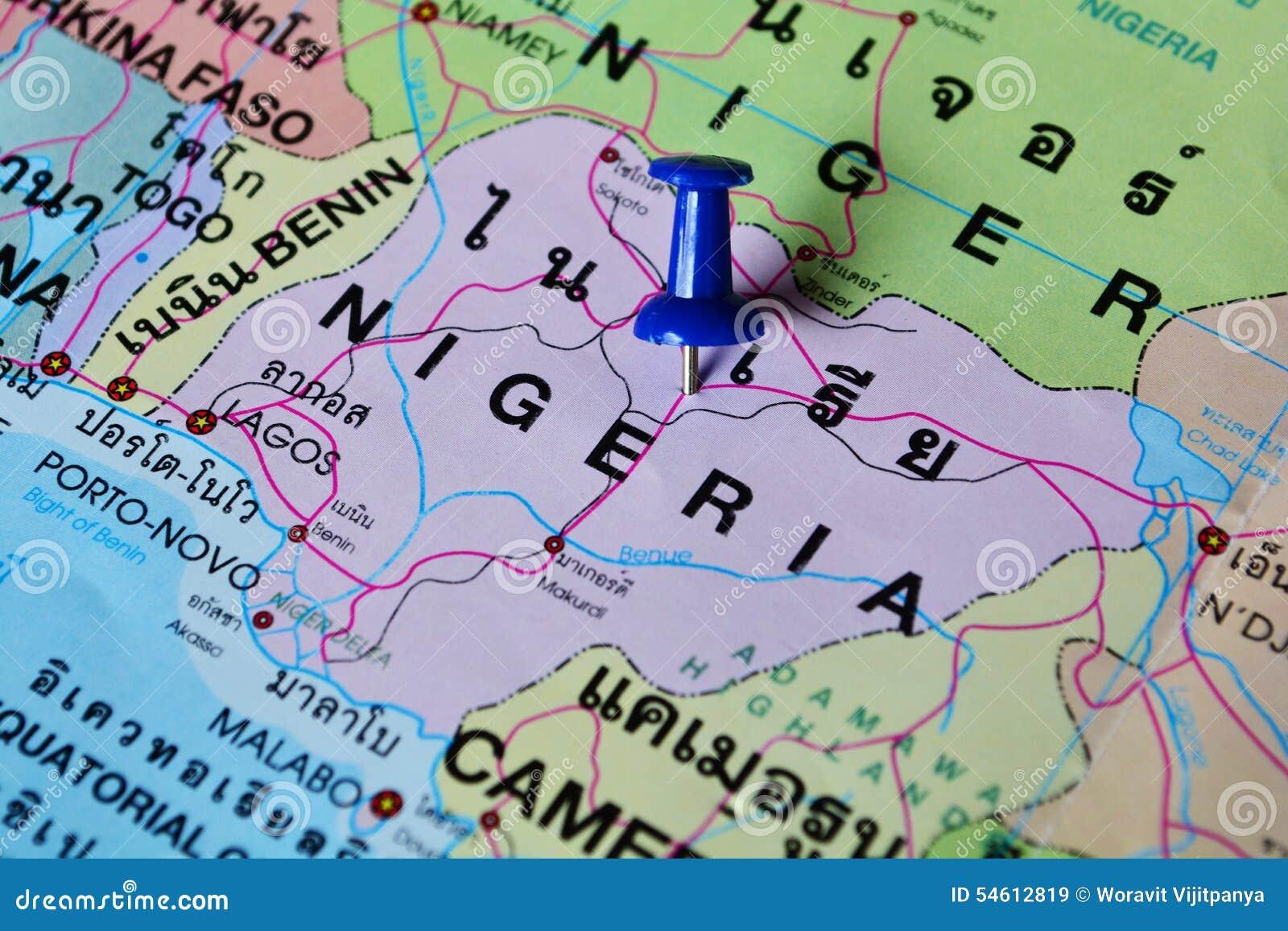 Nigeria-Karte