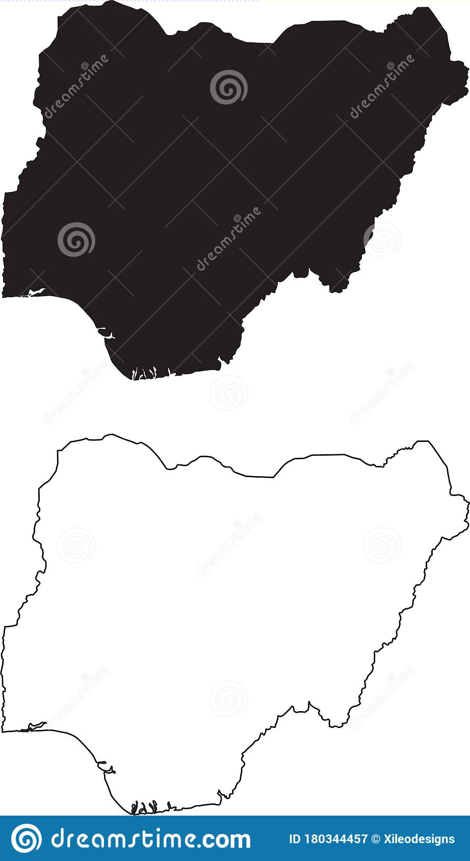 Picture of: Nigeria Map Black Silhouette Country Map Isolated On White Background Black Outline On White Background Vector File Stock Vector Illustration Of Africa Geography 180344457