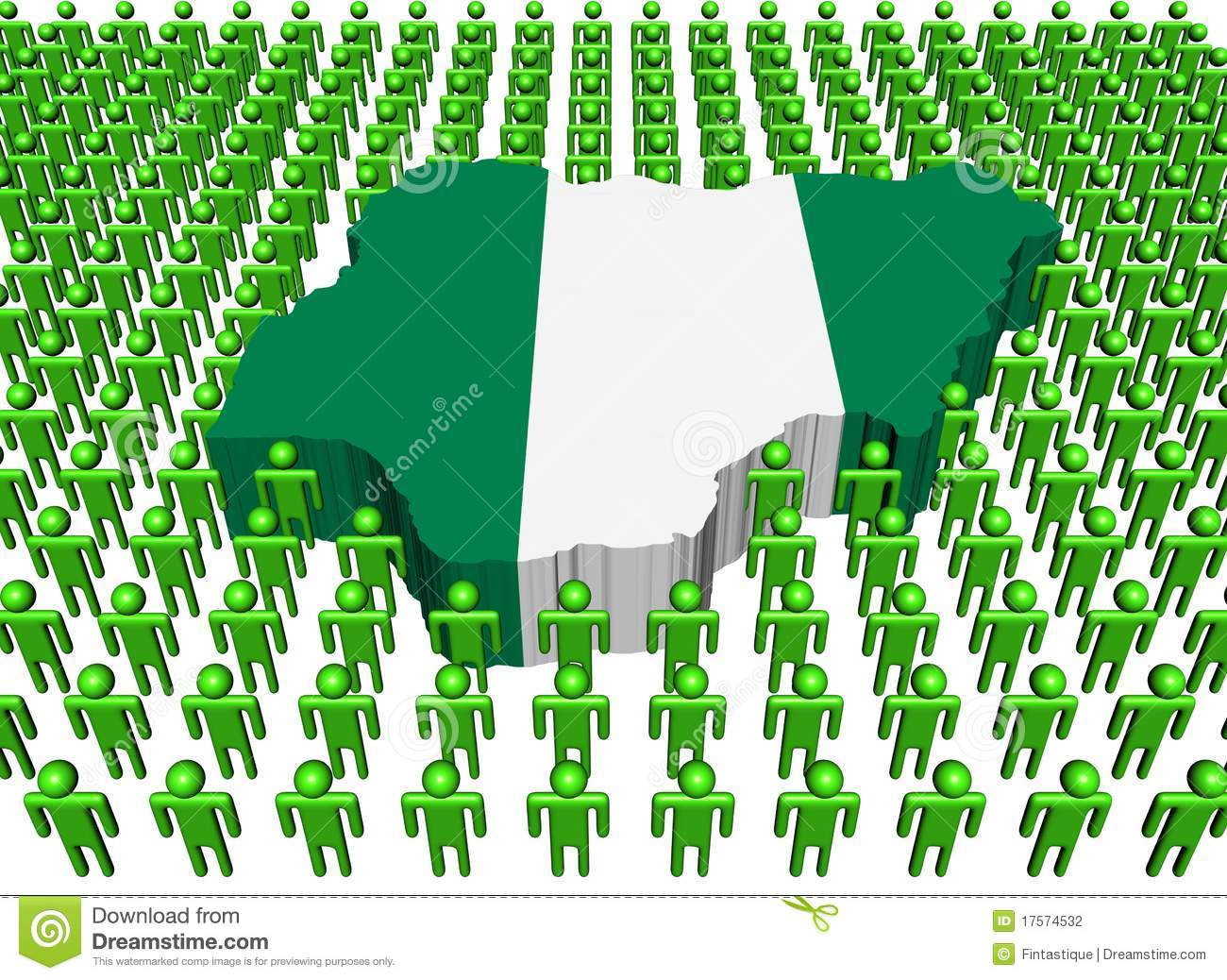 Nigeria Map Flag Surrounded By Many Peopl Stock Photography - Image ...
