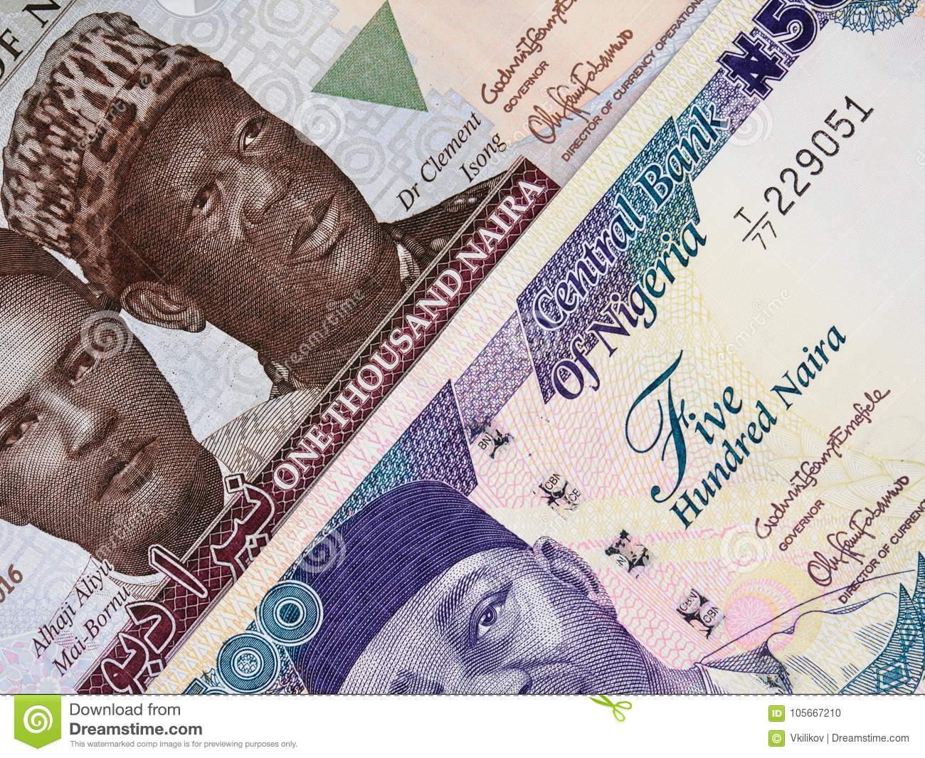 Nigerian currency naira central bank notes, Nigeria money