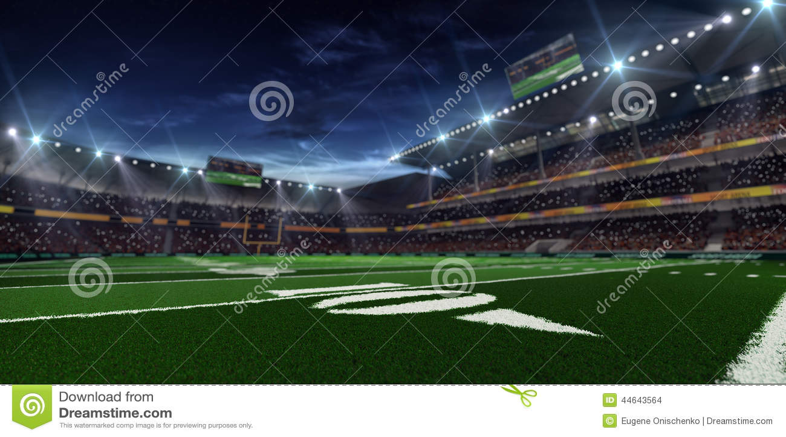 Night american football arena