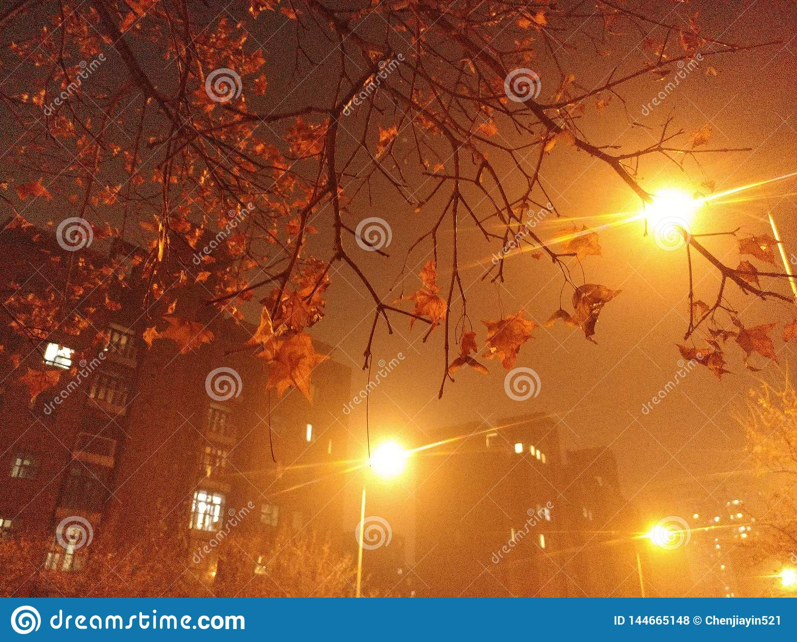 The night in Beijing in autumn, though beautiful, is full of haze