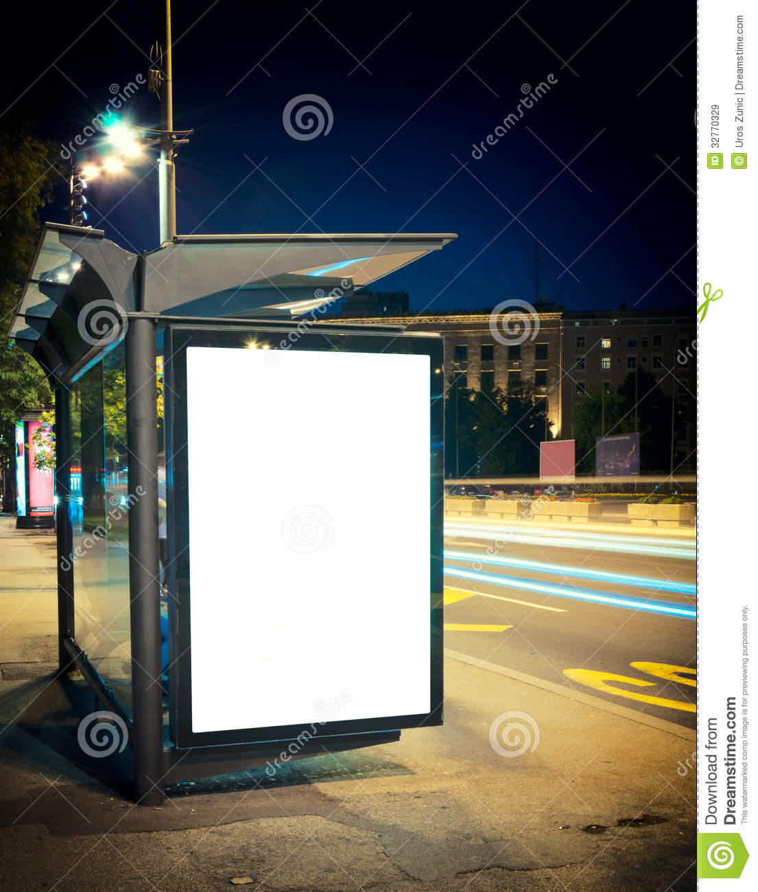 Night Bus Station Royalty Free Stock Images Image 32770329