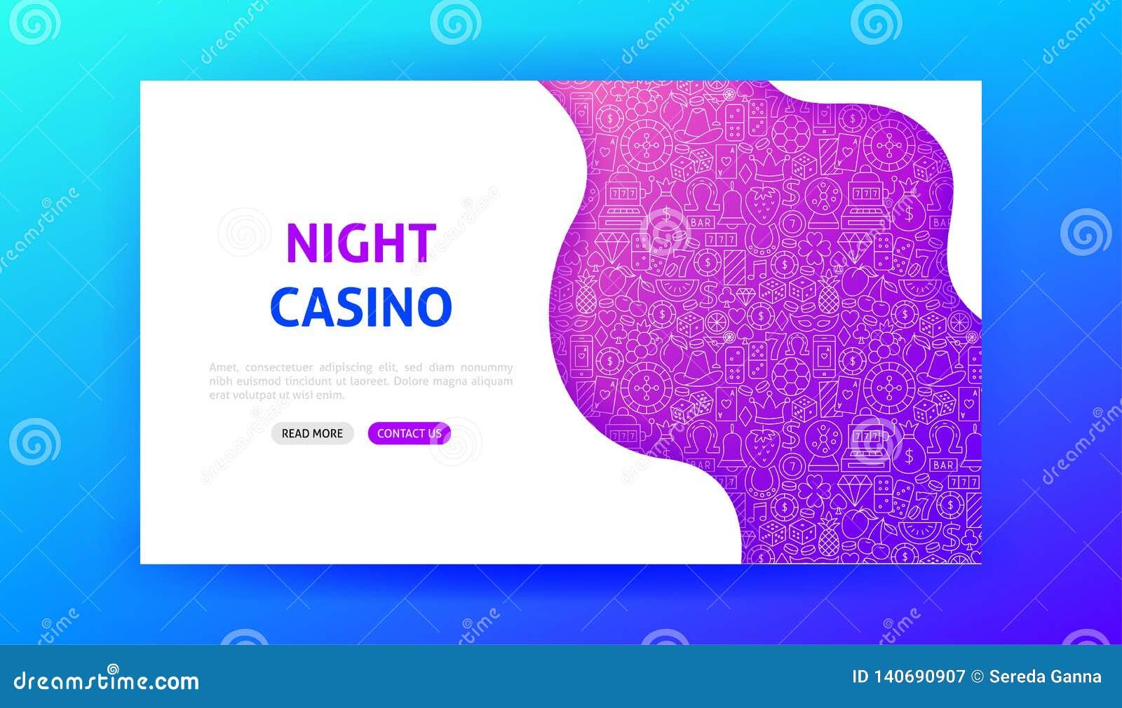 Night Casino Landing Page