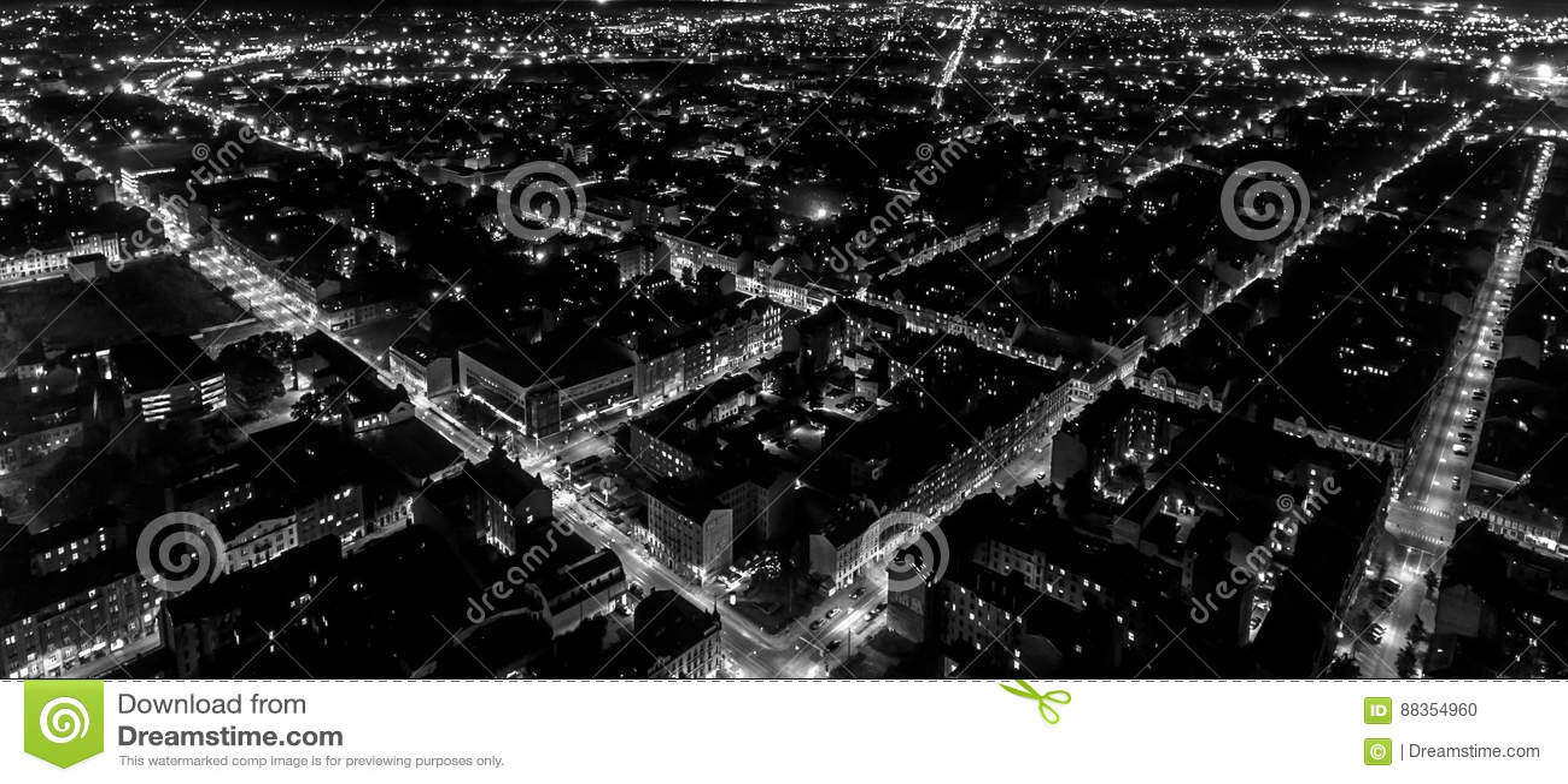Night city grid