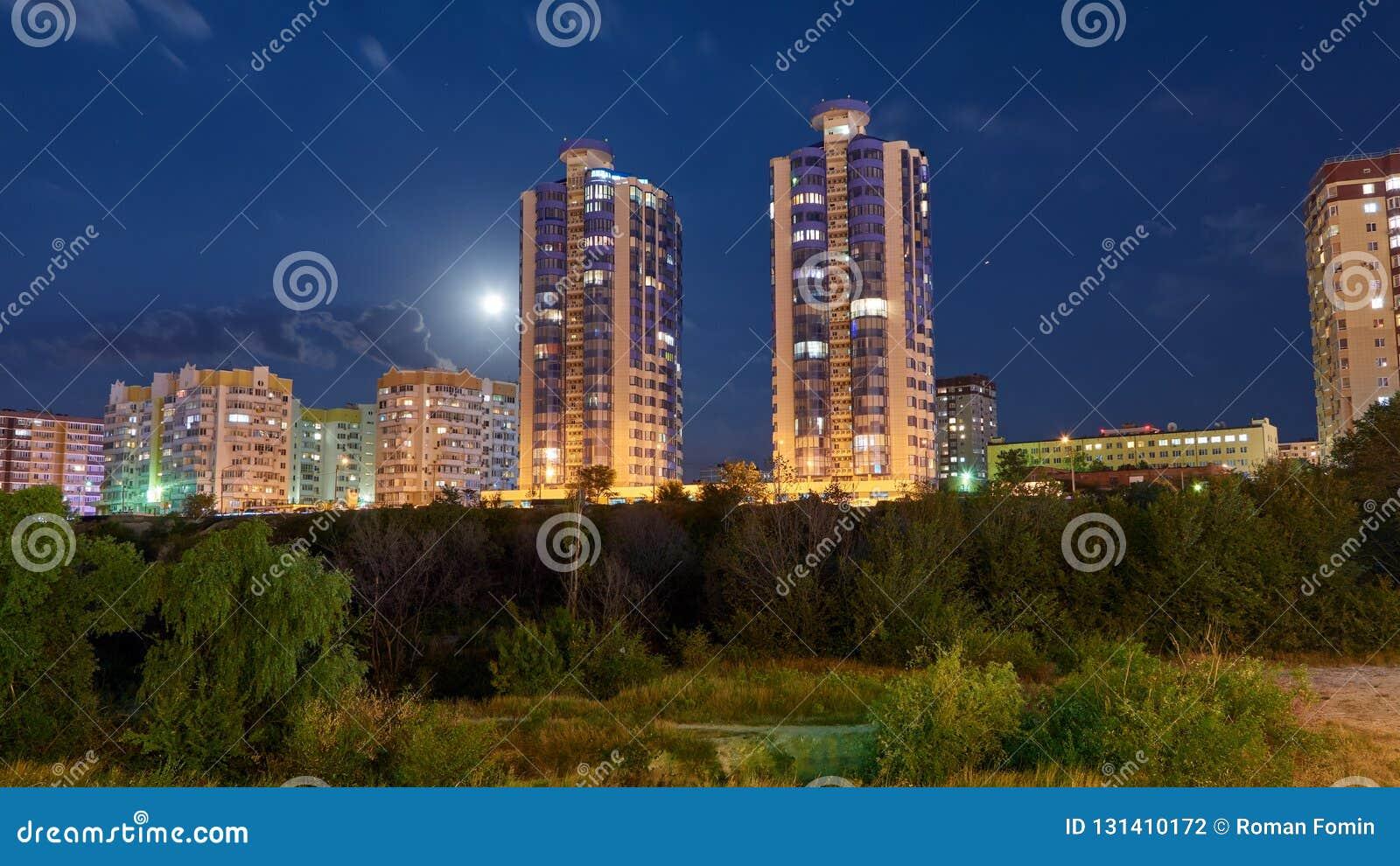 Night city Novorossiysk Krasnodarskiy region