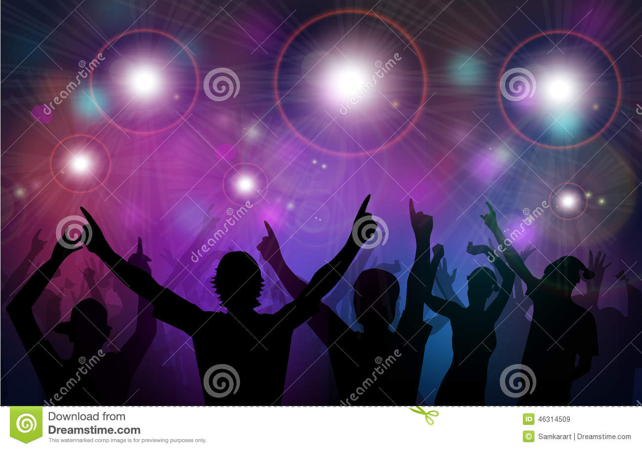 Night Club Party-Vector stock vector. Illustration of ...