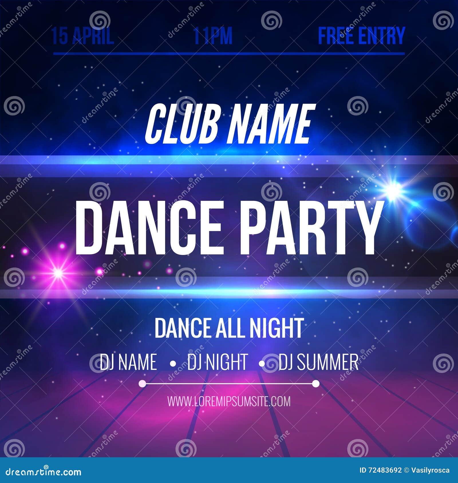 Night Dance Party Poster Background Template Festival Vector Mockup Stock Vector Illustration Of Creative Concert 72483692,Free T Shirt Design Maker