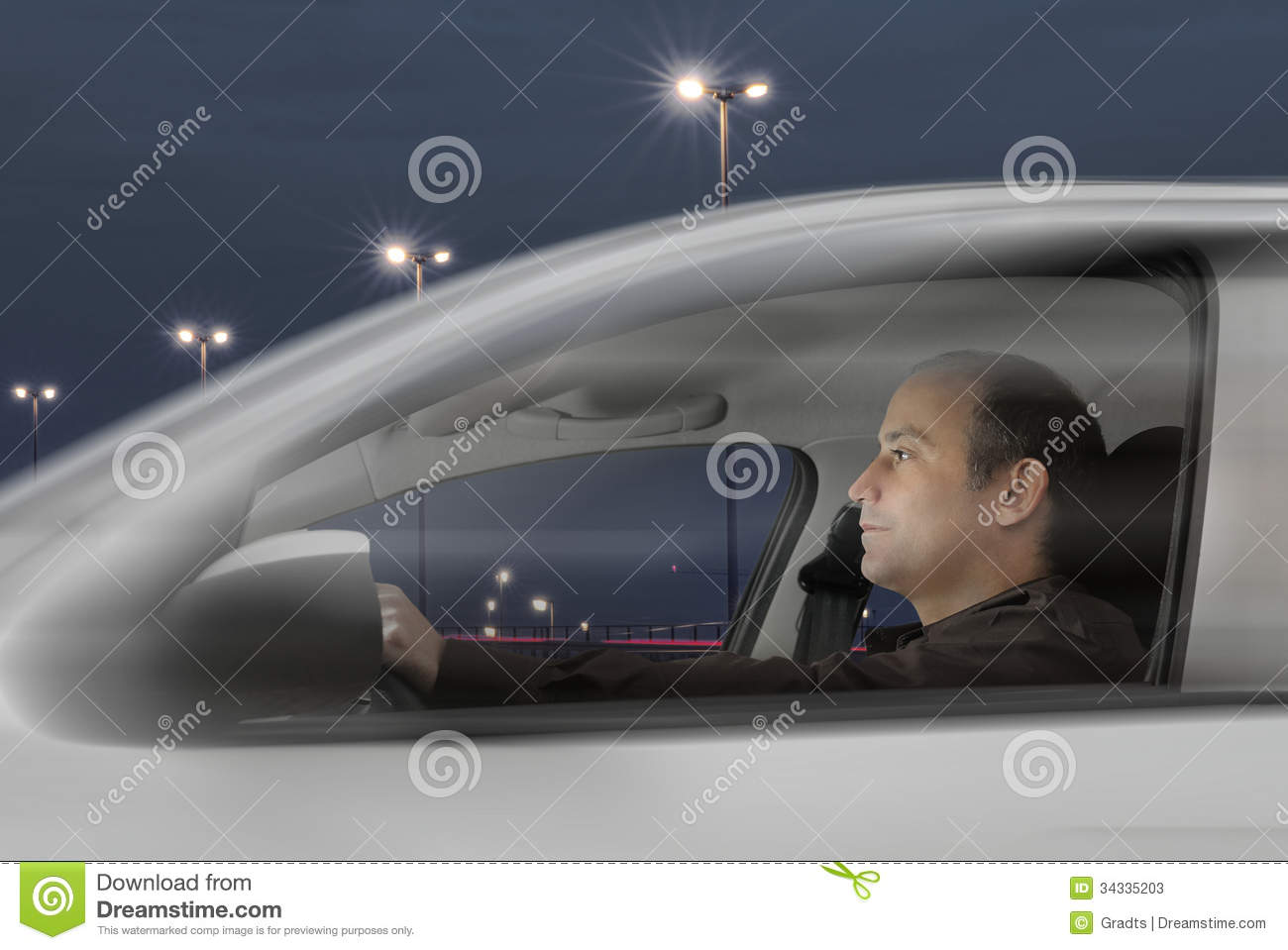 night drive stock photos image 34335203