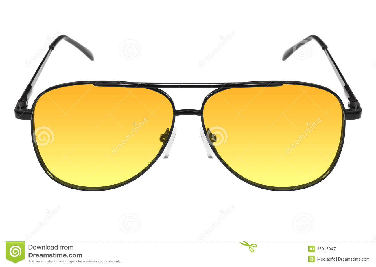 b45a8369a5 Night Drivers Glasses With Yellow Lens Stock Image - Image of ...