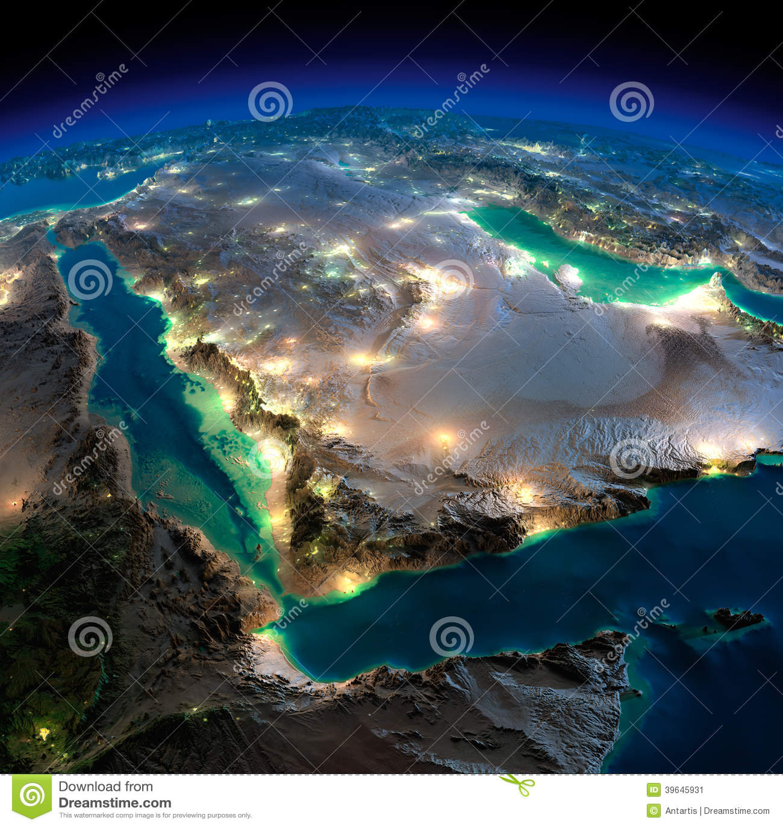 Night earth saudi arabia illustration 39645931 megapixl gumiabroncs Images