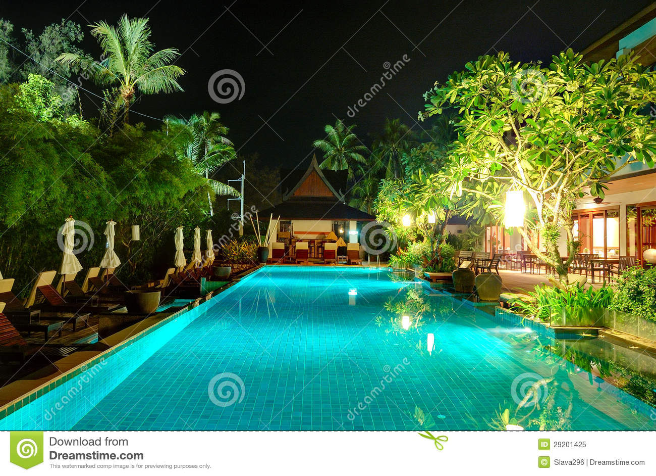 Night Illumination At Luxury Hotel Royalty Free Stock Photo - Image ...