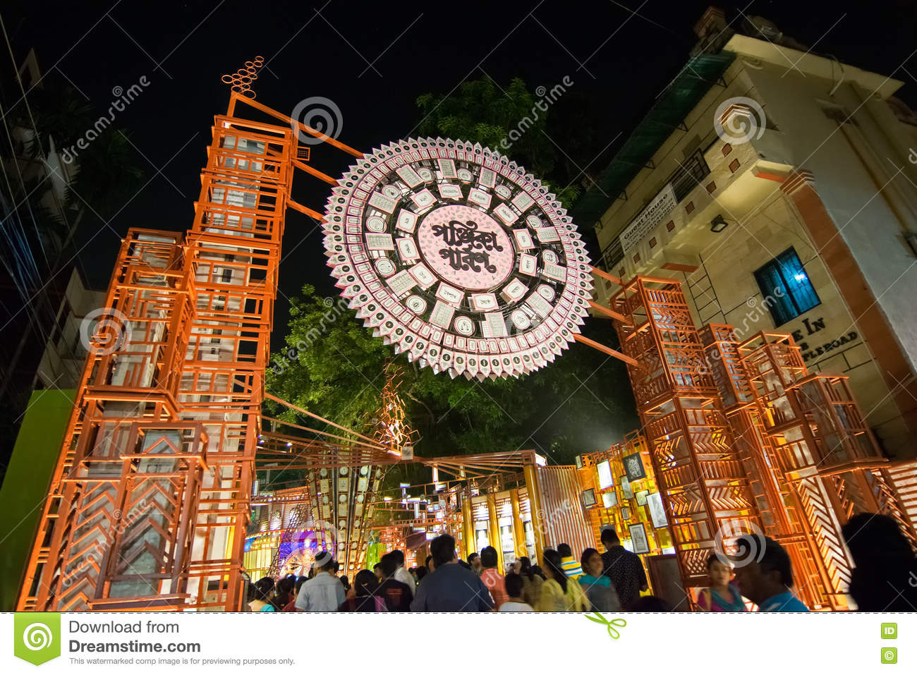 Night image of durga puja pandal kolkata west bengal india night image of durga puja pandal kolkata west bengal india thecheapjerseys Images