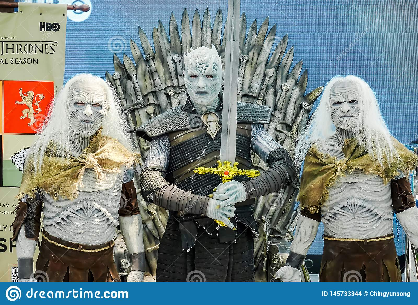 The Night King Night`s King the leader of the White Walkers Cosplay from the series Game of Thrones Present in Bangkok