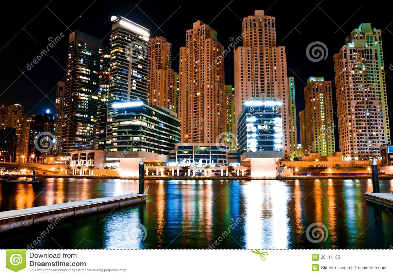 Night landscape metropolis