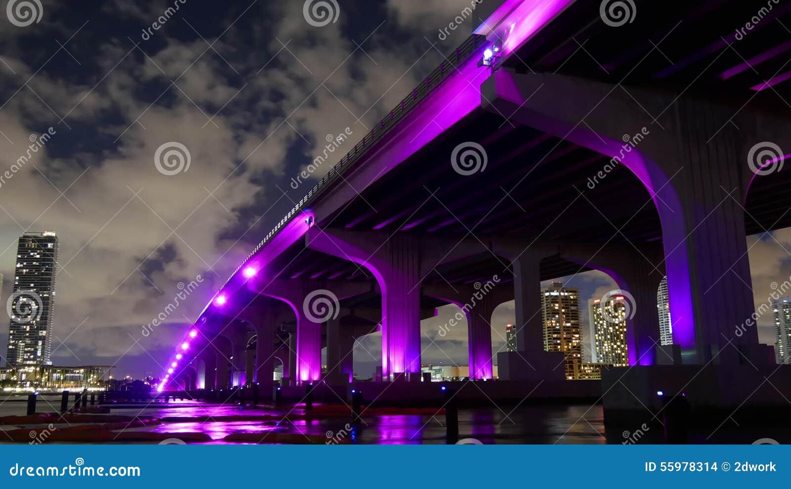 Night Light Sky Miami Famous Downtown Bridge Illumination 4k Time Lapse Florida Usa Stock Footage - Video of boat famous 55978314 & Night Light Sky Miami Famous Downtown Bridge Illumination 4k Time ...