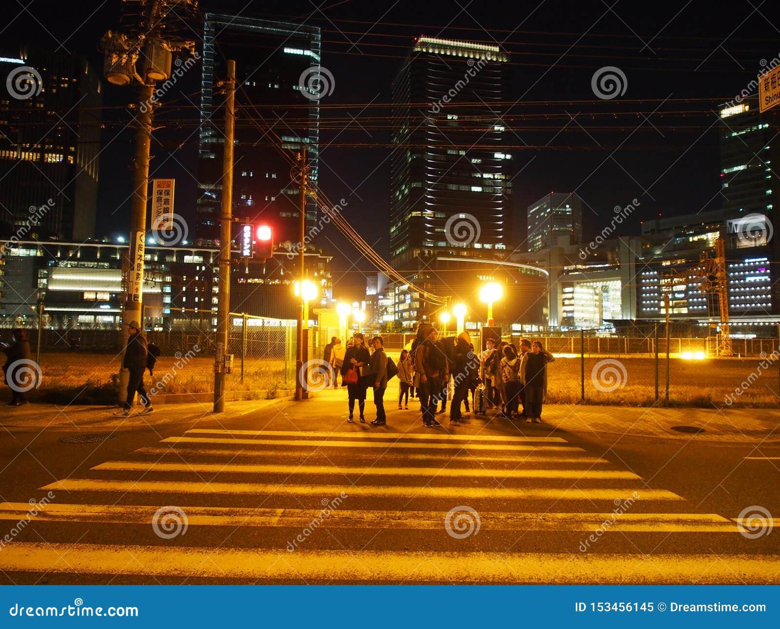 Night Light Street Umeda Japan Travel