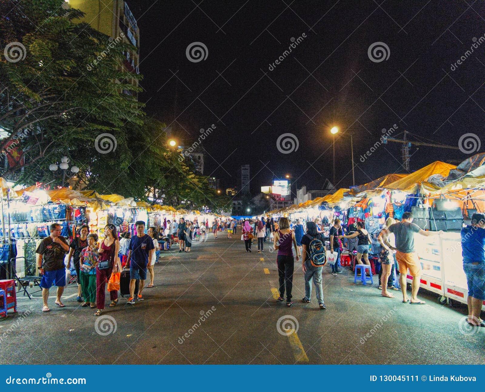 A night market in Ho Chi Minh City