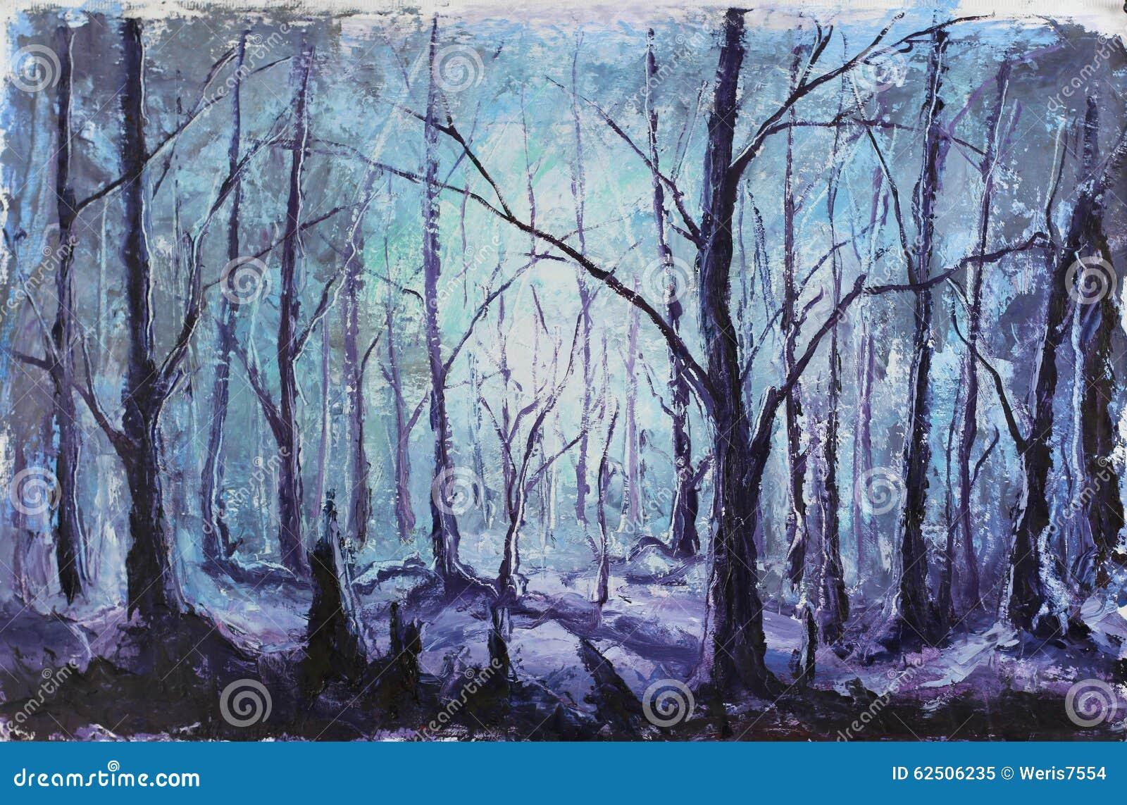 Night Mystical Forest,...