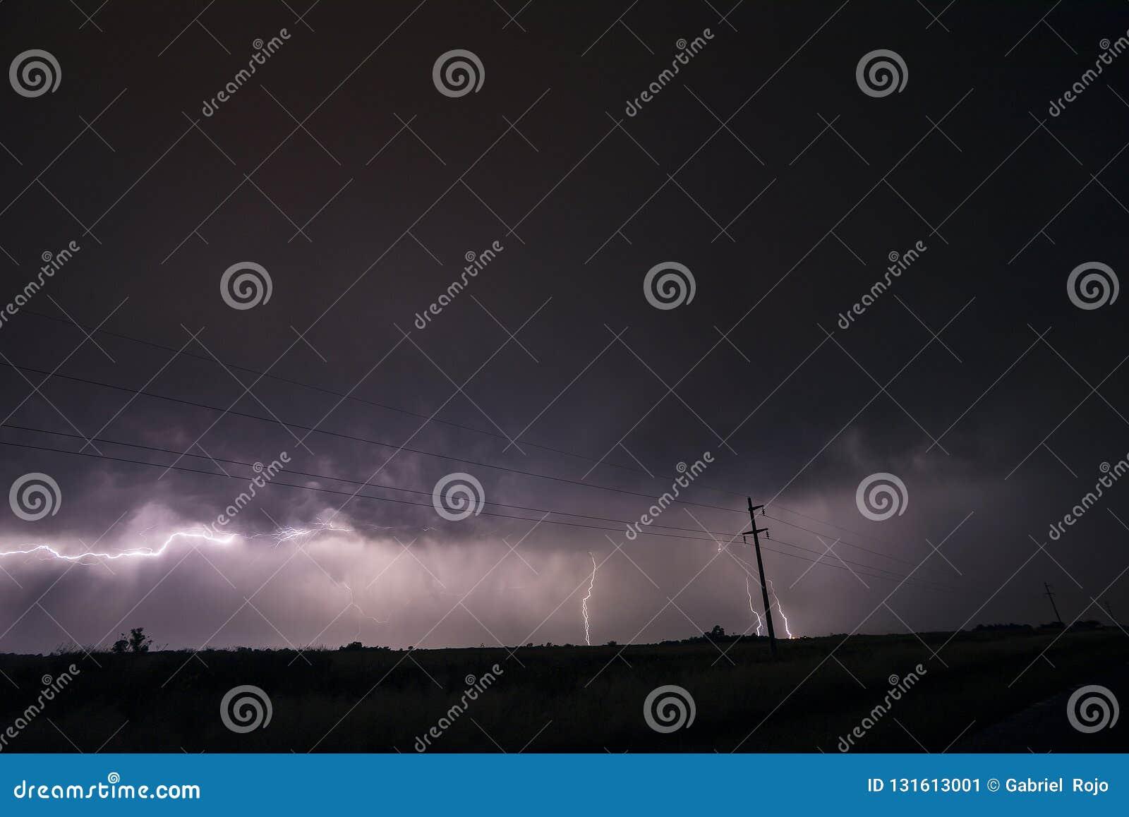 Night Pampas landscape, Argentina