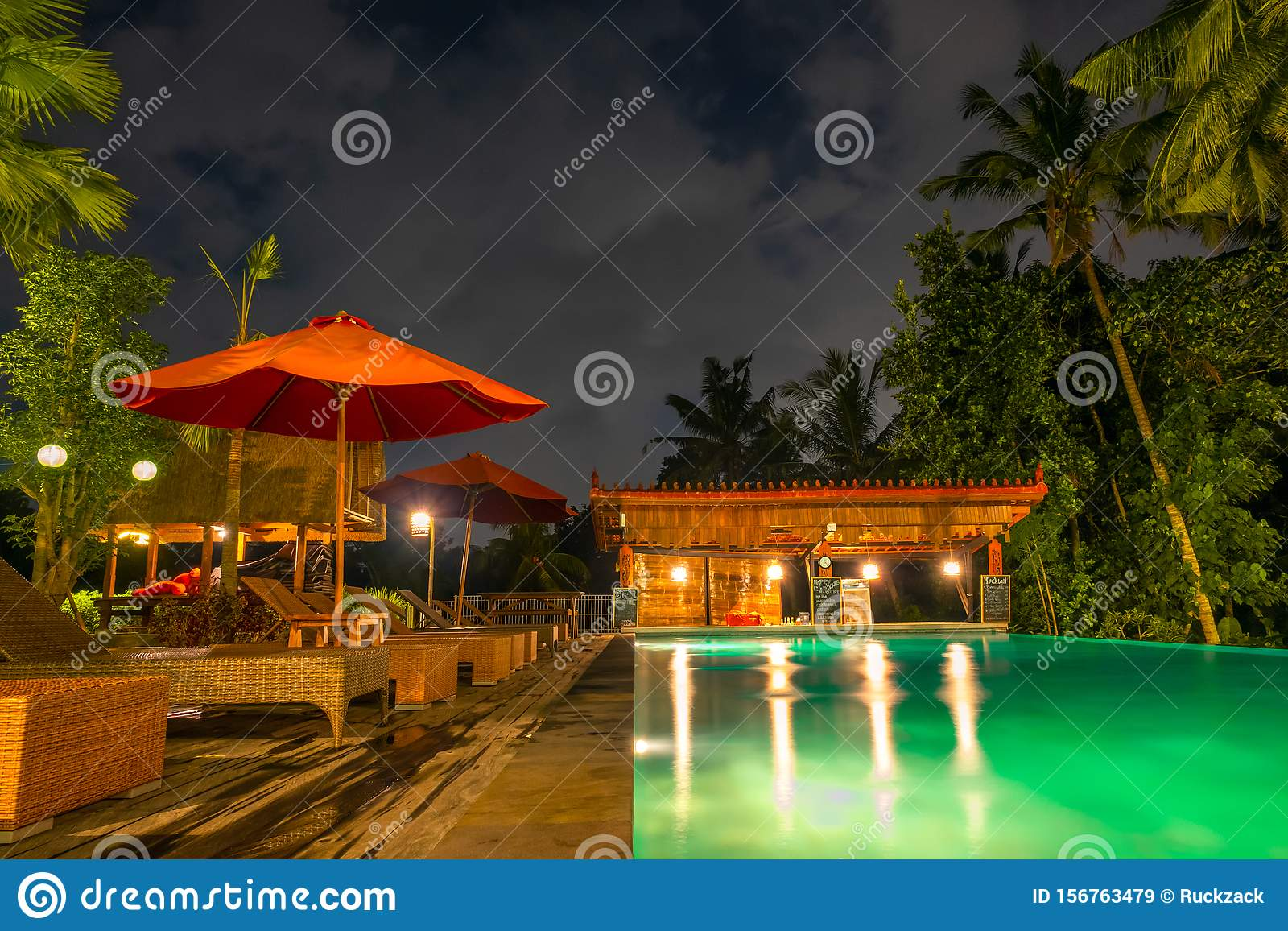 Night Pool in the Rainforest