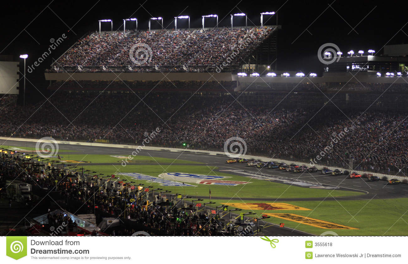 Night racing at lowes motor speedway editorial stock photo for Lowe s motor speedway