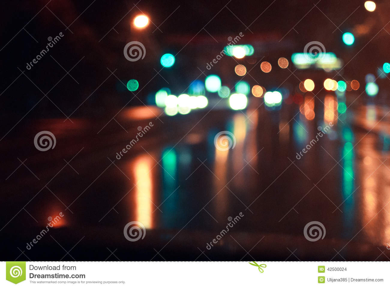 The night road in the city