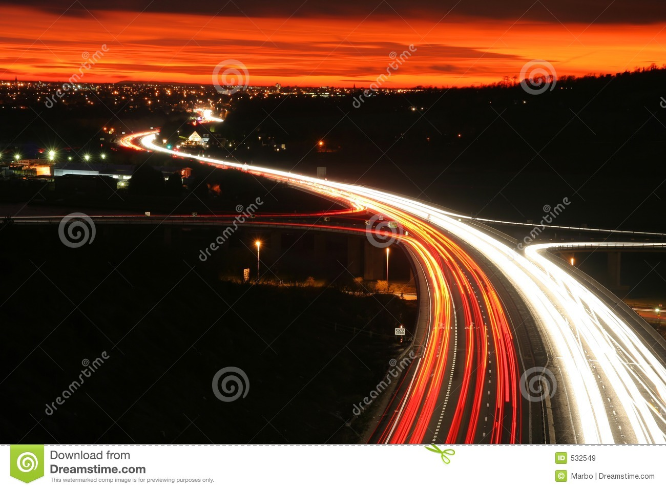 Night Road Traffic Stock Image Image Of Underpass Tail 532549