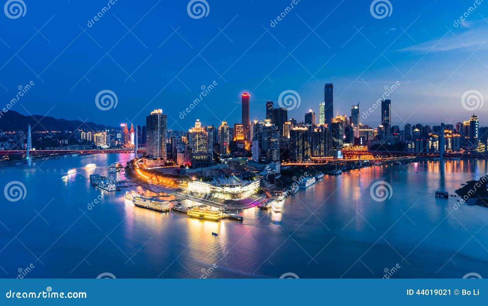 Night scene of Chongqing city