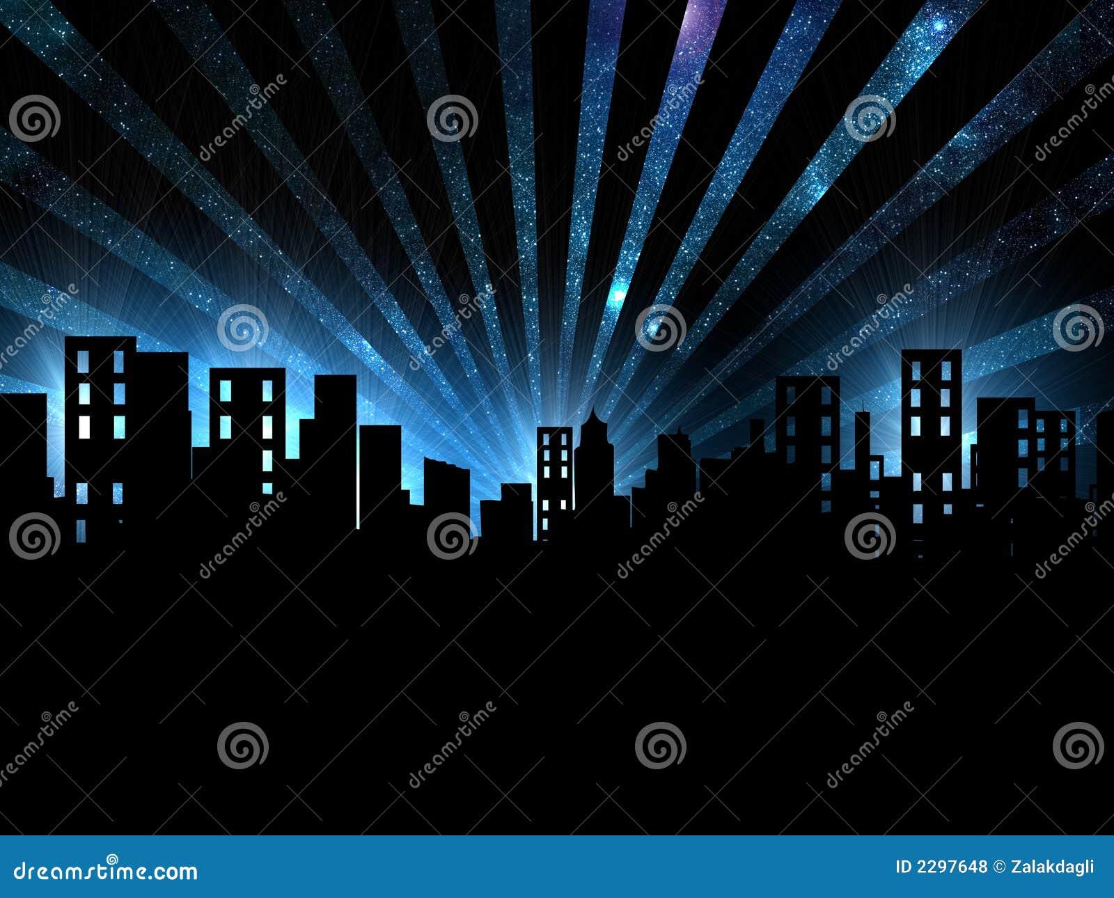 night scene  city night view royalty free stock photos