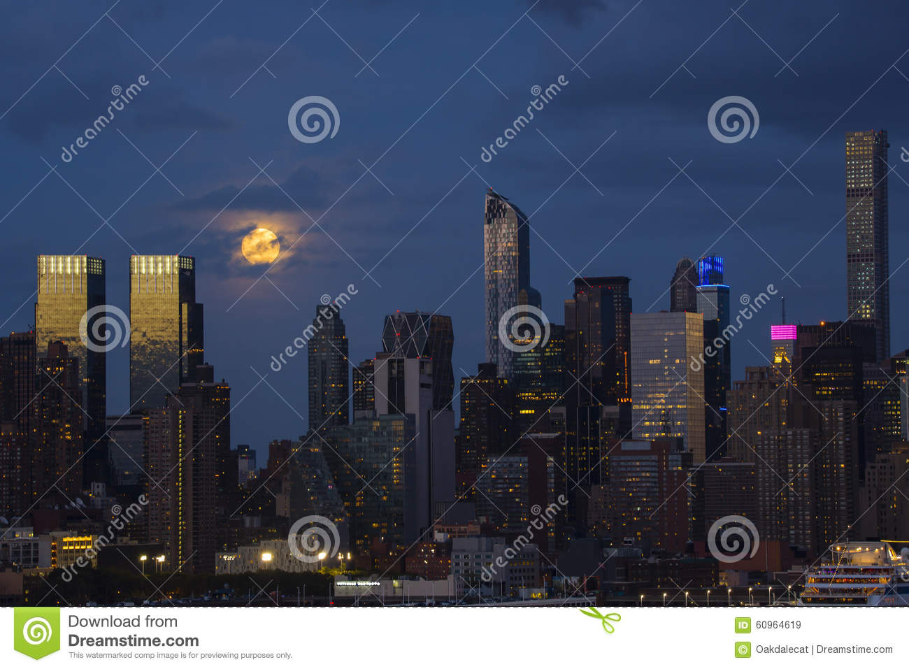 c1c4c30e97a06 Night Scene Super Full Moon City Lights Stock Images - Download 11 Royalty  Free Photos