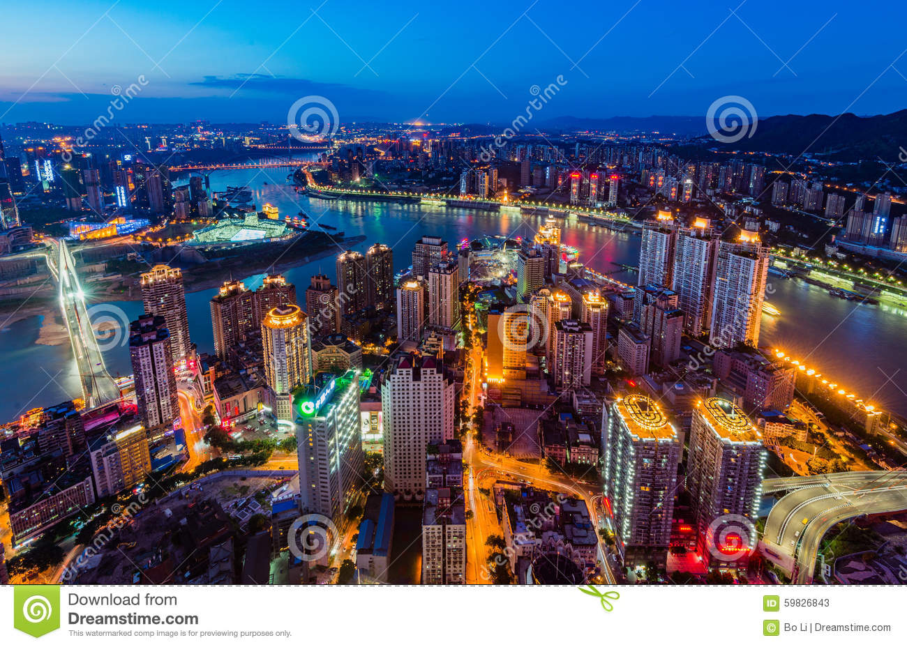 The night scenes of Chongqing