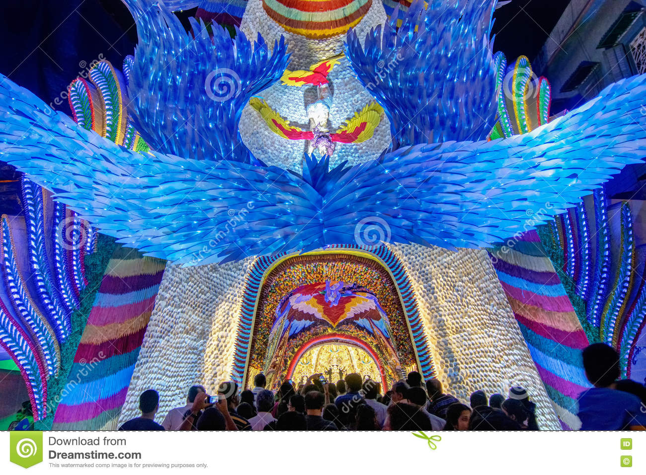 Night shot of durga puja pandal kolkata west bengal india night shot of durga puja pandal kolkata west bengal india documentary goddess thecheapjerseys Images