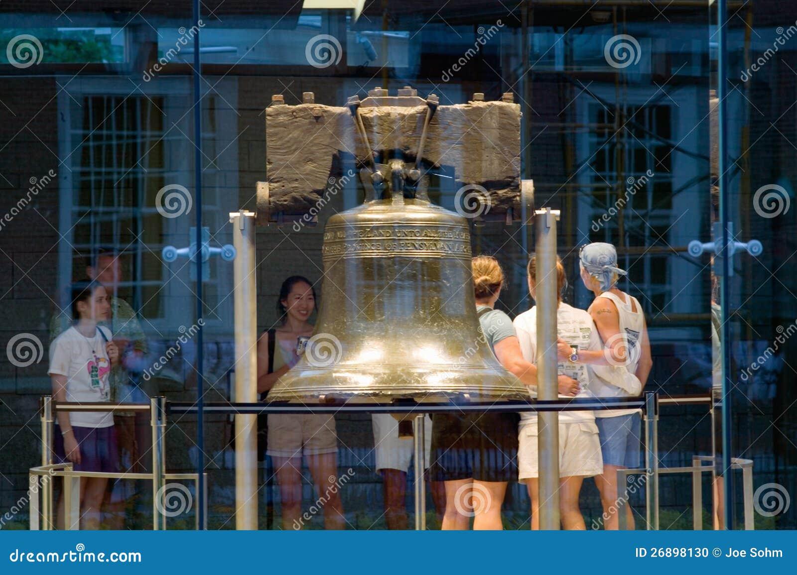 Night shot of Liberty Bell