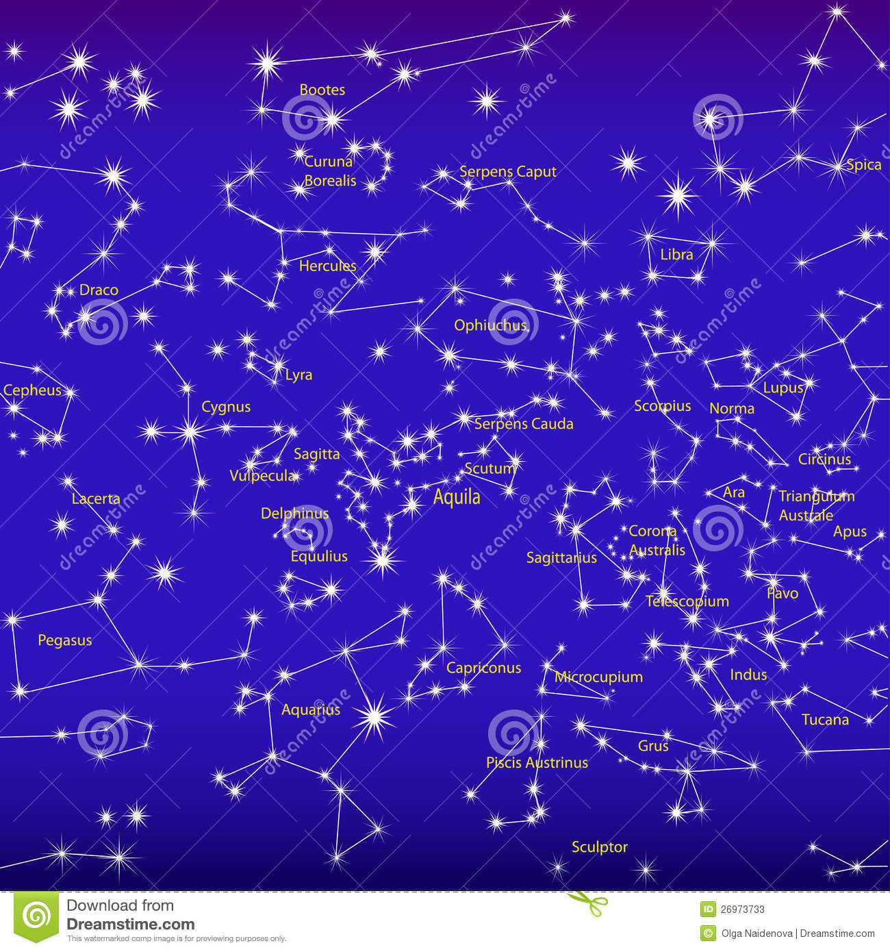All Constellations Of The Zodiac Night sky and constellations
