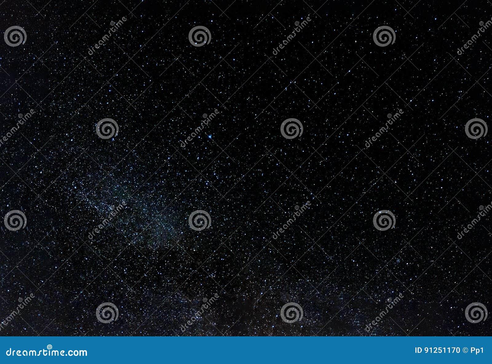 Night sky full of stars, southern hemisphere view