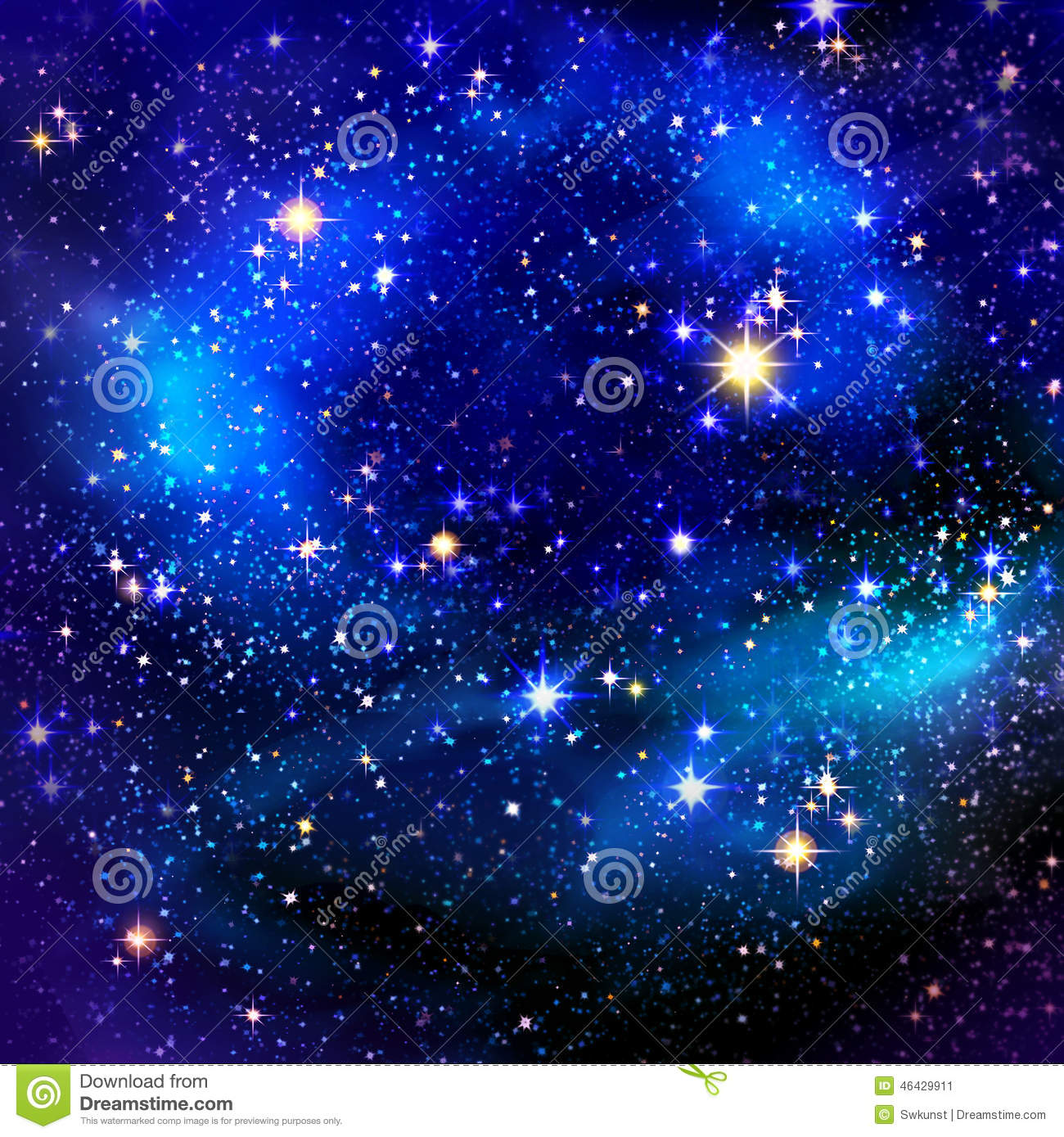 Christmas night sky background and stars.