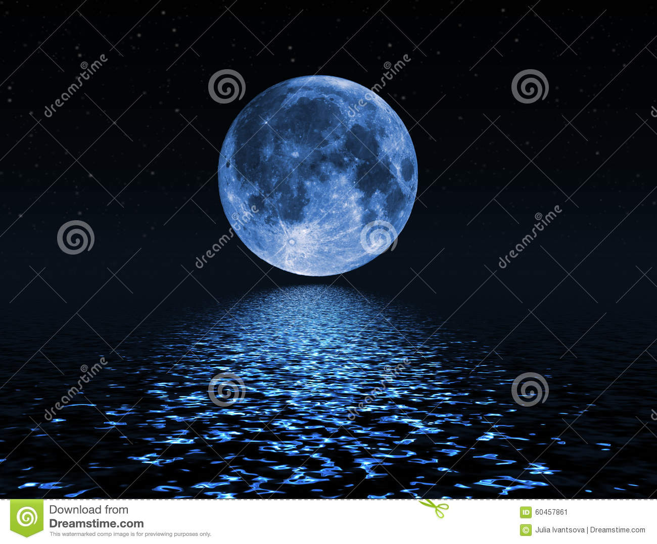 Night Sky With Stars And Full Moon Background Stock Photo ...